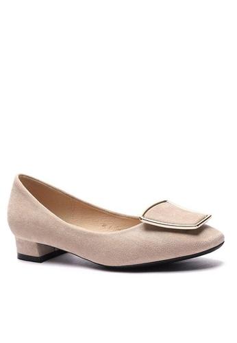 Twenty Eight Shoes 尖頭梯扣絨面高踭鞋1205-42 6D860SH03EF0DFGS_1