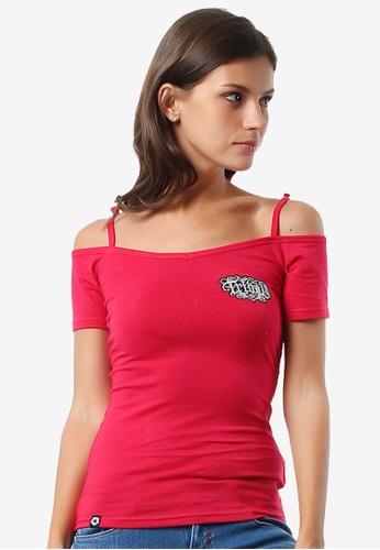 Tribal red Women's Sexy Peek A Boo Extend Tshirt C5BF6AA6AE6690GS_1