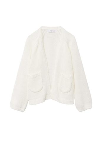 MANGO BABY white Pocket Knit Cardigan A4CDDKAA0C31AFGS_1