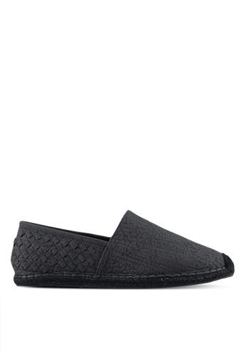 ZALORA black Faux Leather Espadrilles with Weaving Details 98407SH070E650GS_1