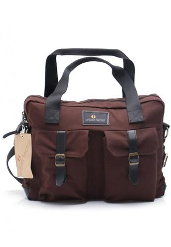 Urban Factor brown URBAN FACTOR BUSY BROWN MESENGGER BAG KANVAS 0075FACD864E9AGS_1