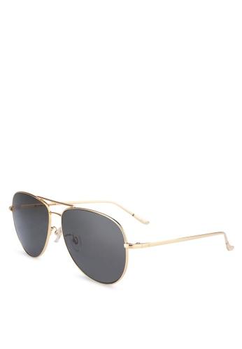 BLANC & ECLARE gold Vegas Sunglasses 03C53GL6B46FFBGS_1