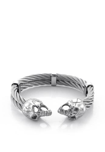 HAPPY FRIDAYS Stainless Steel Skull Bracelet KL144750 571FDAC0F1DDD7GS_1
