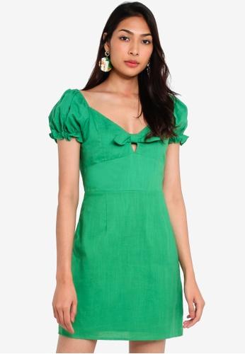 Glamorous 綠色 Polka Dot短洋裝 7FF40AA238884FGS_1