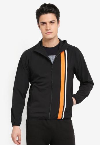 Calvin Klein 黑色 Strip Black Hood Wind Jacket - Calvin Klein Performance 09080AA193FDC1GS_1