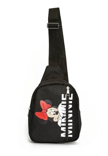 LC WAIKIKI black Girl's Minnie Mouse Printed Backpack 27F56KC56460ECGS_1