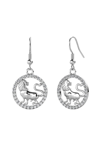 Her Jewellery 白色 Her Jewellery Circlet Hook Leo Earrings (White Gold) embellished with Crystals from Swarovski镶嵌施华洛世奇水晶 C2AA2AC4E94FB4GS_1