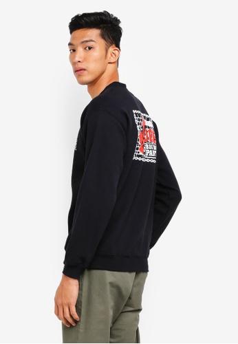 OBEY black Big Boy Pants Basic Crewneck Sweatshirt C5D48AA7D1C36FGS_1