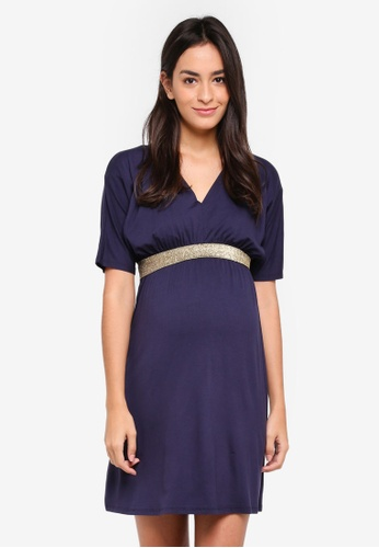 Envie De Fraise navy Maternity Felicineor Dress C3611AAE29A918GS_1