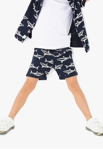 MARKS & SPENCER navy Pure Cotton Shark Shorts EC391KAB5CF8A1GS_1