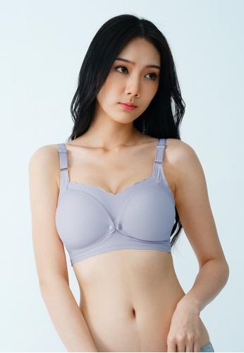 9months Maternity purple Lilac Seamless Front Snap Nursing Bra 122D0US024A762GS_1