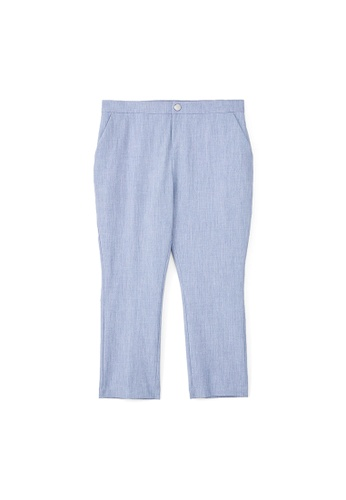 MS. READ blue BASIC TAILORED PANTS BBD8EAA79F53CFGS_1