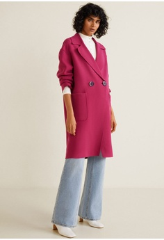 c8885f69b666 45% OFF Mango Unstructured Virgin Wool Coat RM 576.90 NOW RM 316.90 Sizes S