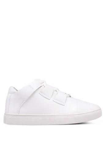 Something Borrowed white Cross Straps Sneakers 0EB7FSHC0782E0GS_1
