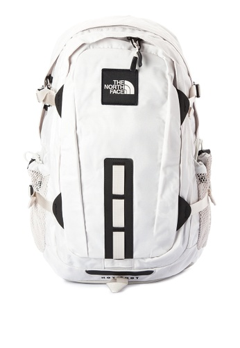 The North Face black and white Hotshot SE Backpack TH803AC0J2ULPH_1