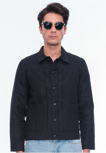 Alpha Style black Aja Trucker Jacket AL461AA0FXJ8SG_1