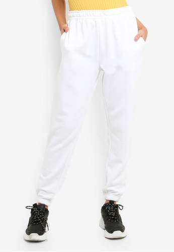 MISSGUIDED white White Basic Joggers F2D6CAA1038F89GS_1
