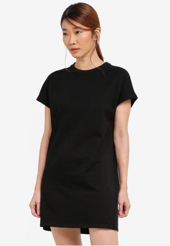 Something Borrowed black Oversized Tee Dress 96D78ZZC442053GS_1