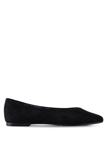 Nose 黑色 格紋平底鞋 524E4SH7527AA9GS_1