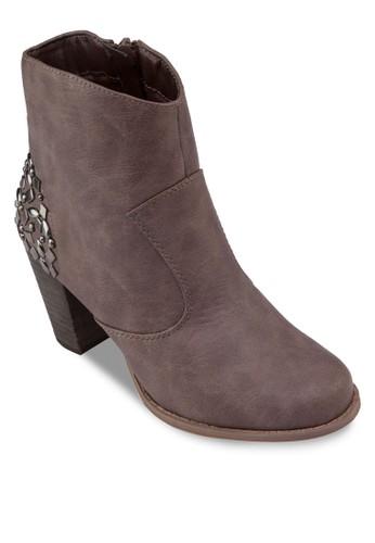 鞋背閃飾高跟踝靴, 女鞋esprit台灣outlet, 靴子