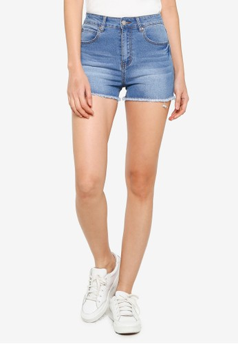 ZALORA BASICS blue Classic Denim Shorts 3EC76AA8911380GS_1