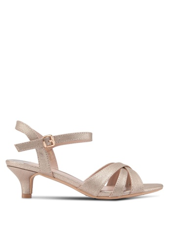 Dorothy Perkins gold Widefit Gold Swing Sandals A108FSH2C90B02GS_1