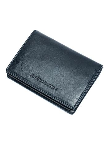 ENZODESIGN blue Fine Grained Water Buffalo Leather Card Holder (With I.D. Window) F2EDBAC30A7F69GS_1