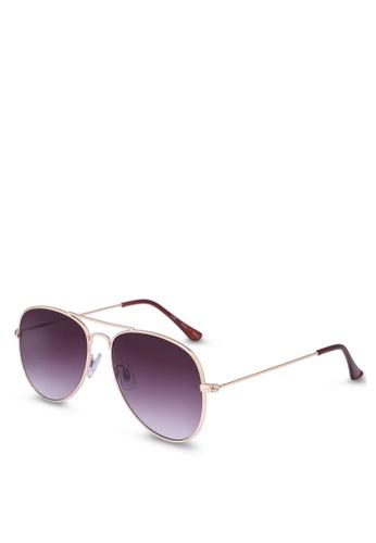 Rubi grey and gold Arabella Metal Sunglasses 95229GLF4062B0GS_1