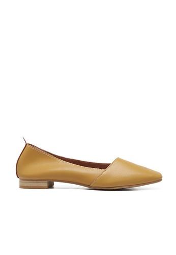 Sunnydaysweety yellow 2017 New Simple Plain Flat Shoes A03169YE SU443SH91PEUHK_1