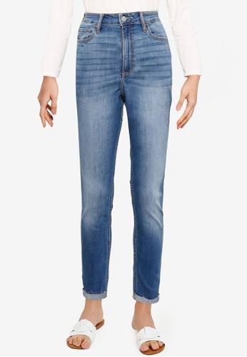 Hollister blue Curvy Destroyed Jeans 995CDAA1317521GS_1