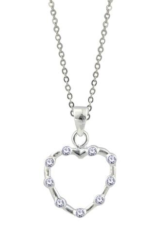 SC Tom Silver silver Heart Stone Pendant with Chain-TPS070 W/CHAIN SC872AC58HBPPH_1