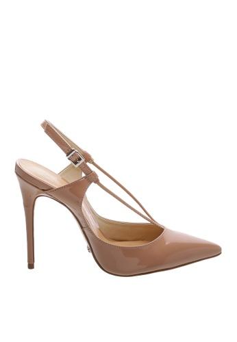 Schutz 褐色 SCHUTZ 搭帶高跟涼鞋 - ARIANA (烤果色) 78E0BSH9BB3223GS_1
