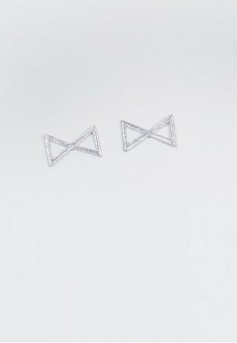 髮絲紋鏡射三角耳環, 飾品配件京站 esprit, 耳環