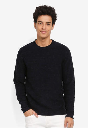 Jack & Jones navy Toby Knit Crew Neck Jumper 80899AA6483D75GS_1
