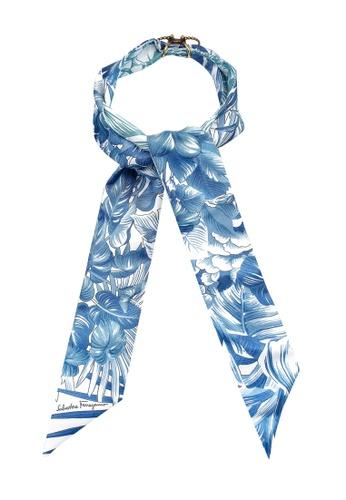 Ferragamo 藍色 Oblong Shawl (zt) 83401ACDCBDBFFGS_1