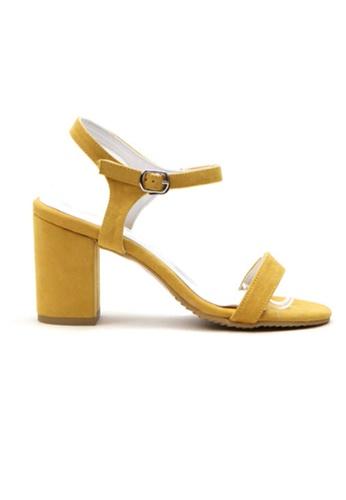 Crystal Korea Fashion yellow Korean Fashion Summer Candy Color Thick Sandals 1A65ESH1F0012CGS_1