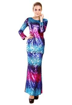 0084d8ab6518f Maribeli Butik pink and blue and purple Maribeli Butik Rainbow Sequin -  Blue/Pink/