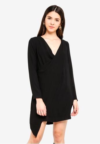 River Island black Long Sleeve Dolly Swing Dress 744D1AA530E8E6GS_1