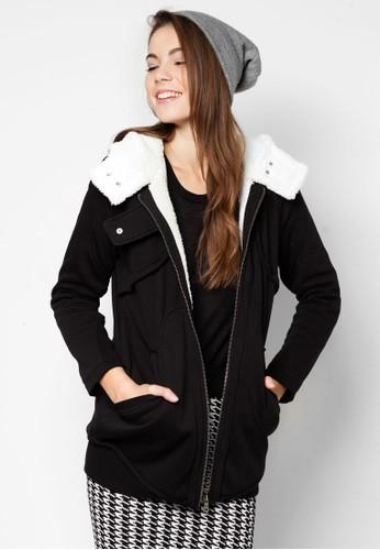 簡約連帽刷毛外套, 服飾, 連帽上衣 &zalora 鞋評價amp; 連帽外套