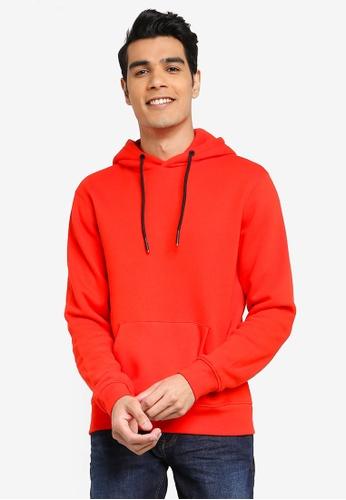 BLEND red Basic Hoodie 76691AA753064BGS_1
