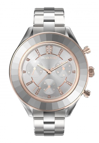 Swarovski silver Octea Lux Sport Watch Metal Bracelet White Stainless Steel C6E86ACC8A5AADGS_1