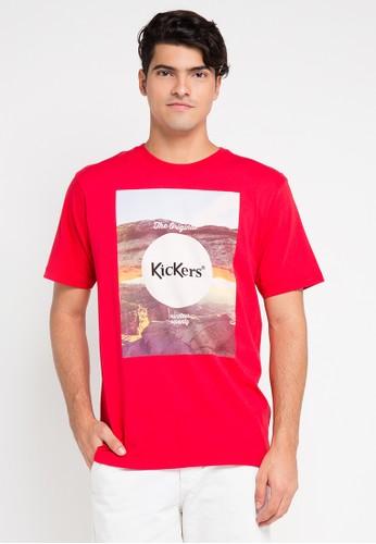 Kickers red T.Shirt KI071AA0VOXXID_1