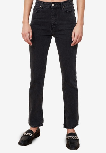 Trendyol black High Waist Straight Cut Jeans 97B39AA74D38C1GS_1