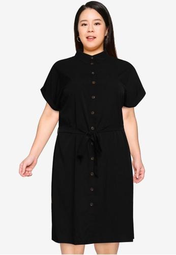 Only CARMAKOMA black Plus Size Diega Dress AC95EAADC6DD9AGS_1