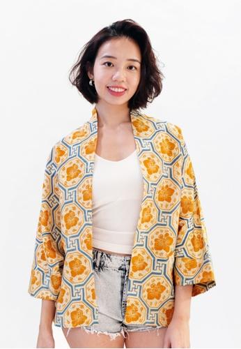 YeoMama Batik orange Canary Vanda Batik Cardigan F756BAA38B3E84GS_1