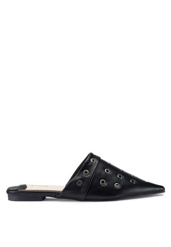 Berrybenka 黑色 素色穆勒鞋 2DEB2SH9E404A5GS_1