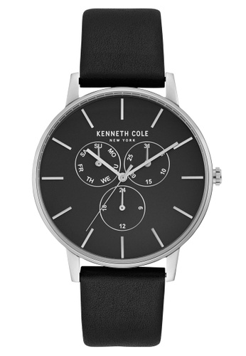 Kenneth Cole black Kenneth Cole - Black Dial with Silver Markers and Black Leather Strap KE854AC0GNVISG_1