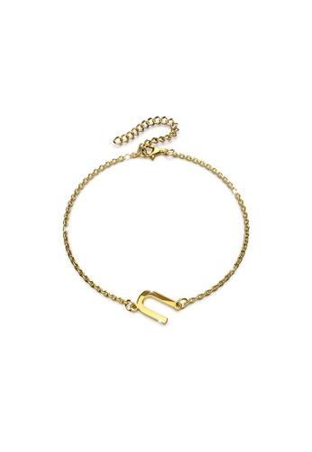 Bullion Gold gold BULLION GOLD Bold Alphabet Letter Initial Charm Bracelet in Gold Tone - U 15525AC461E59EGS_1