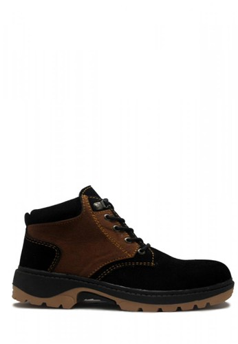 D-Island black D-Island Safety Shoes Black Prayer Suede Boots Mens Rocky DI594SH00GKHID_1