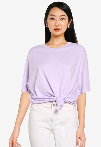 ONLY purple Laya Life Short Sleeves Oversized T-shirt 6F56DAA4DBD043GS_1